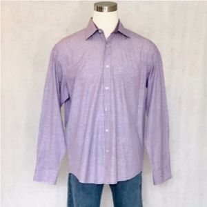 Bugatchi Uomo Long Sleeve Pattern Dress Shirt